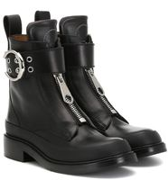 Chloe Roy Round Toe Rubber Sole Leather Ankle & Booties Boots