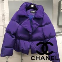 CHANEL ICON Short Casual Style Plain Elegant Style Outerwear