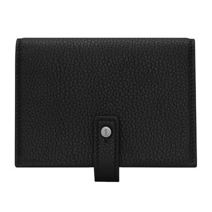 Saint Laurent SAC DE JOUR Folding Wallet Logo Unisex Calfskin Plain Leather