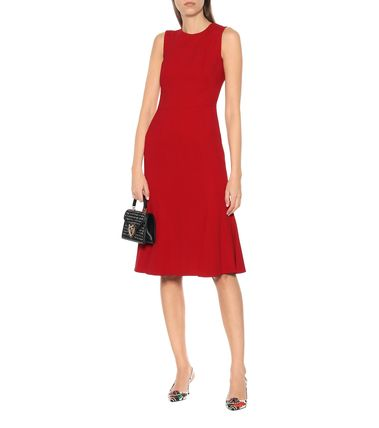 Crew Neck Sleeveless Medium Elegant Style Dresses