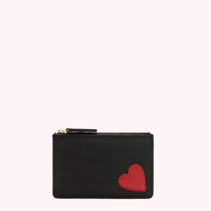 Heart Leather Logo Coin Cases