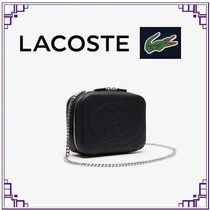LACOSTE Casual Style Plain Leather Elegant Style Shoulder Bags