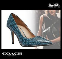 Coach Casual Style Blended Fabrics Leather Python