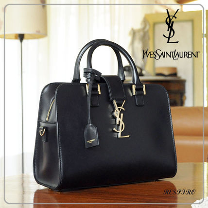 Monogram 2WAY Leather Elegant Style Handbags