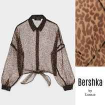 Bershka Leopard Patterns Casual Style Medium Elegant Style