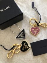 PRADA Heart Plain Keychains & Bag Charms
