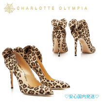 Charlotte Olympia Leopard Patterns Wedge Party Style Wedge Pumps & Mules