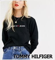 Tommy Hilfiger Crew Neck Street Style Long Sleeves T-Shirts