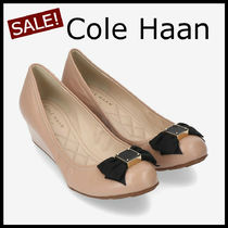 Cole Haan Round Toe Casual Style Plain Leather Elegant Style