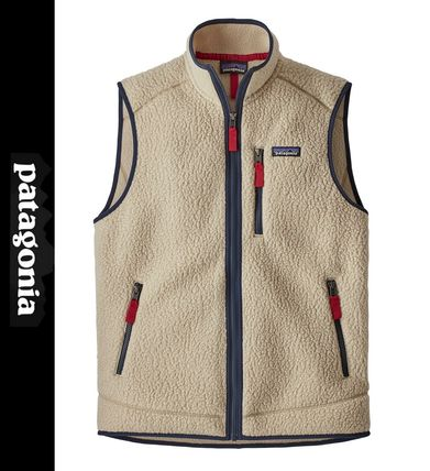 Patagonia Shearling Logo Outdoor Vests & Gillets