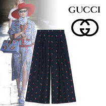 GUCCI Casual Style Wool Plain Cotton Long Home Party Ideas