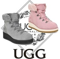 UGG Australia Casual Style Suede Street Style Plain Wedge Boots