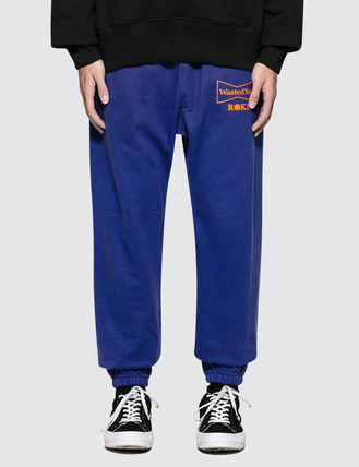 Unisex Sweat Street Style Collaboration Plain Logo Pants