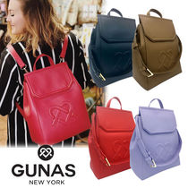GUNAS Casual Style Faux Fur A4 2WAY Plain Office Style Backpacks