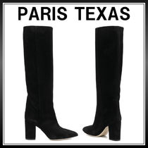 PARIS TEXAS Casual Style Suede Street Style Plain Chunky Heels