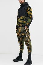 THE NORTH FACE Camouflage Unisex Street Style Plain Cotton Bottoms