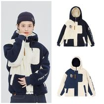 ROMANTIC CROWN Unisex Street Style Medium Oversized Jackets