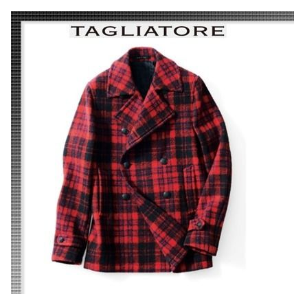 Short Other Check Patterns Peacoats Coats