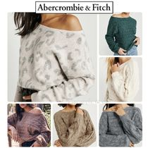 Abercrombie & Fitch Dolman Sleeves Street Style Long Sleeves Plain Sweaters