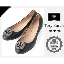 Tory Burch Plain Leather With Jewels Ballet Shoes