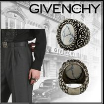 GIVENCHY Flower Patterns Unisex Street Style Rings