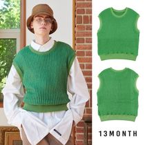 13MONTH Casual Style Unisex Street Style Plain Vests