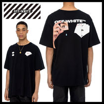 Off-White Crew Neck Pullovers Street Style Plain Cotton Short Sleeves
