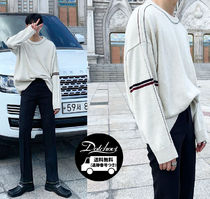 ASCLO Crew Neck Long Sleeves Oversized Knits & Sweaters