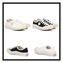 Acne Round Toe Lace-up Low-Top Sneakers