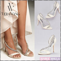 Vera Wang Plain Pin Heels With Jewels Elegant Style Shoes