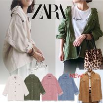 ZARA Plain Long Oversized Khaki Jackets