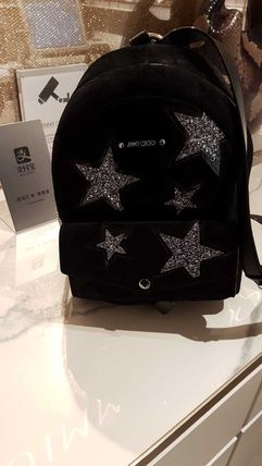 Star Casual Style Suede A4 Backpacks