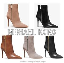 Michael Kors Suede Blended Fabrics Street Style Plain Leather Pin Heels