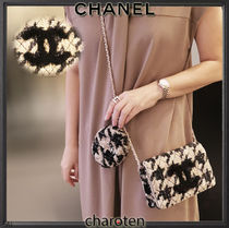 CHANEL CHAIN WALLET Zigzag 3WAY Chain Elegant Style Crossbody Formal Style