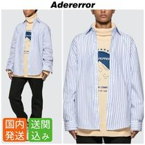 ADERERROR Stripes Casual Style Street Style Long Sleeves Cotton