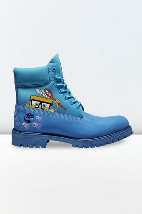 Timberland Plain Toe Mountain Boots Street Style Collaboration Leather