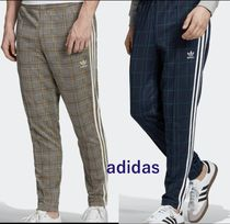 adidas Tapered Pants Tartan Unisex Street Style Tapered Pants