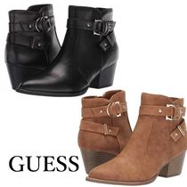 G BY GUESS Casual Style Faux Fur Plain Block Heels
