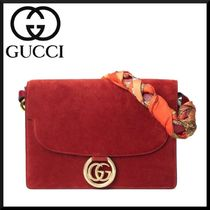 GUCCI Suede 2WAY Plain Elegant Style Shoulder Bags