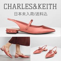Charles&Keith Casual Style Plain Party Style With Jewels Elegant Style