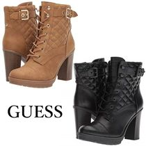 G BY GUESS Casual Style Faux Fur Plain Block Heels High Heel Boots