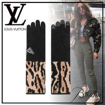 Louis Vuitton Leopard Patterns Wool Cashmere Nylon Street Style