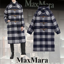 MaxMara Other Check Patterns Casual Style Wool Blended Fabrics