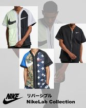Nike Street Style Long Sleeves Cotton Logos on the Sleeves