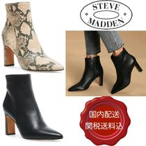 Steve Madden Plain Leather Block Heels Party Style Python