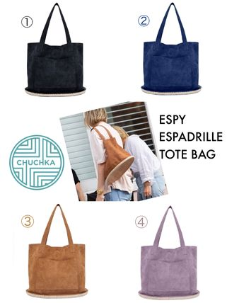 Casual Style Suede Plain Logo Totes