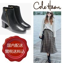 Cole Haan Plain Leather Party Style Wedge Boots