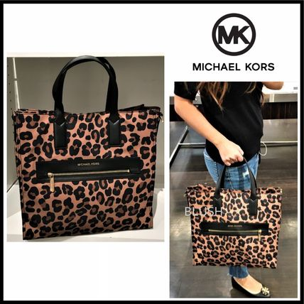 Leopard Patterns Nylon A4 Totes