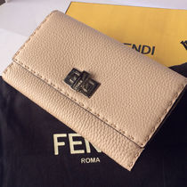 FENDI PEEKABOO Calfskin Plain Long Wallets
