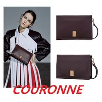 COURONNE Casual Style Street Style Plain Totes